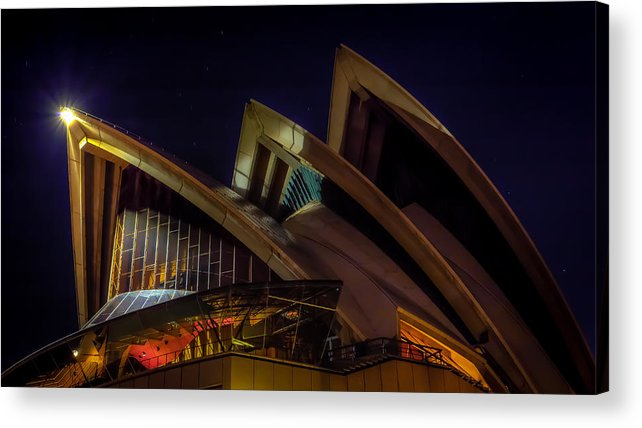 Sydney Acrylic Print featuring the photograph Opera House Sails by Paradigm Blue