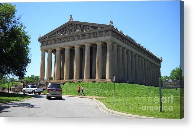 Parthenon Acrylic Print featuring the photograph Parthenon In Nashville by Paula Talbert
