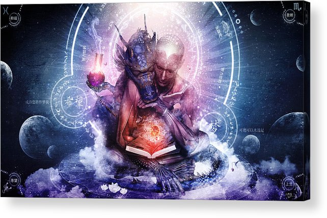 Spiritual Acrylic Print featuring the digital art Perhaps The Dreams Are Of Soulmates by Cameron Gray