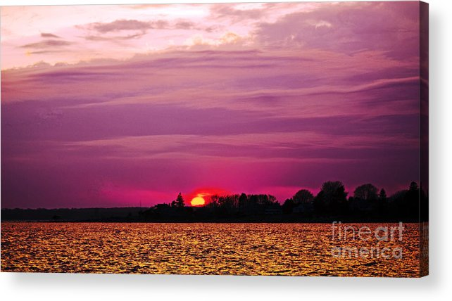 Sunset Acrylic Print featuring the photograph Psychoactive Sunset by Joe Geraci