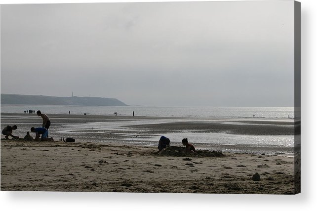 Sand Castles Acrylic Print featuring the photograph Sand Castles by Maria Joy