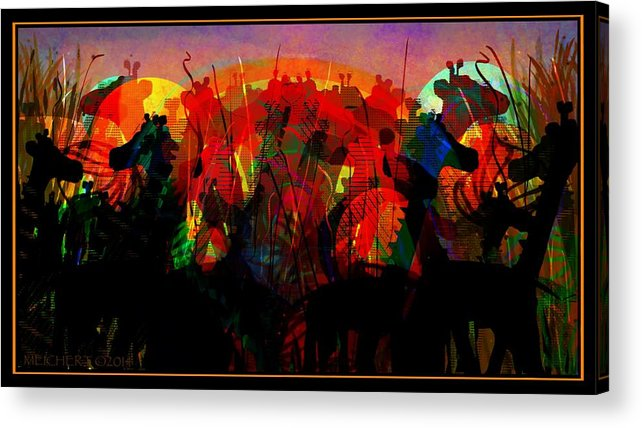 Safari Acrylic Print featuring the digital art Savannah Safari by Mary Eichert