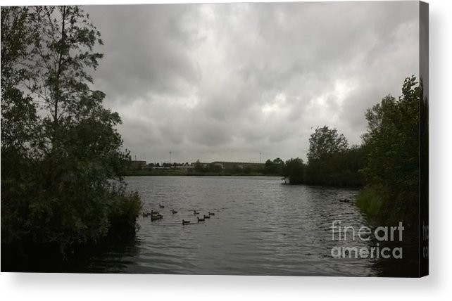 Landscape Acrylic Print featuring the photograph Storm In A Duck Pond by Matthew Clive