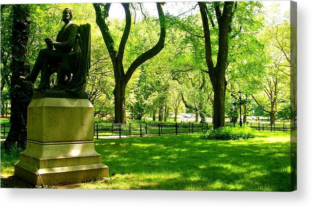 Central Park Prints Acrylic Print featuring the photograph Summer In Central Park Manhattan by Monique's Fine Art