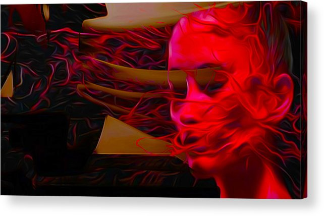 Woman Acrylic Print featuring the painting The Burning Being by Michael T Moreno