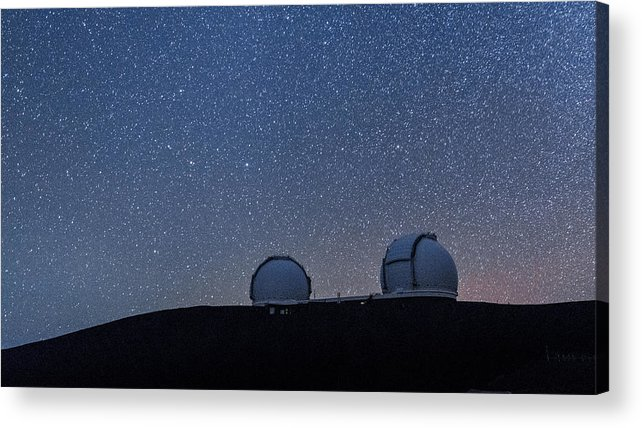 Big Island Acrylic Print featuring the photograph The Stars Above Keck by Jason Chu