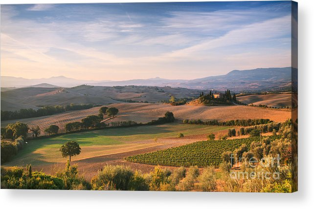 Tuscany Acrylic Print featuring the photograph Tuscan Landscape by Matteo Colombo