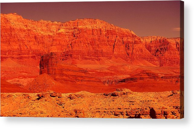 Cliffs Acrylic Print featuring the photograph Vermilion Cliffs by Jeff Swan