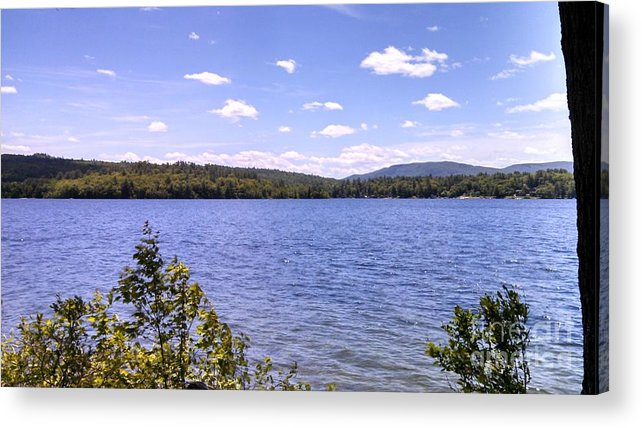 Lakes Acrylic Print featuring the photograph Wind Chopped Waters by Lisa Gifford