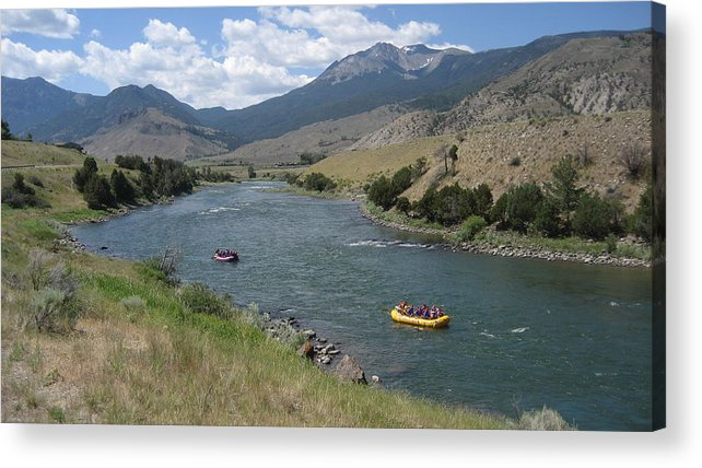 Montana Acrylic Print featuring the photograph Yellowstone River by Jeffrey Akerson