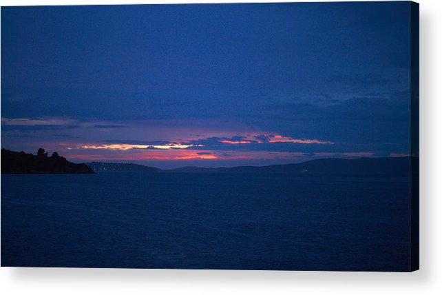 2012 Acrylic Print featuring the photograph Sunset In Mali Drvenik by Jouko Lehto