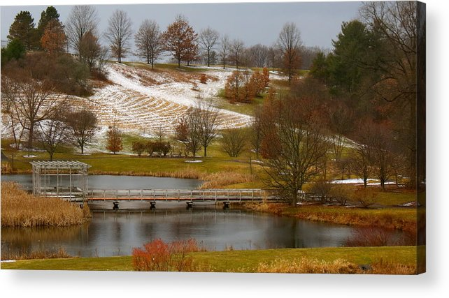 Pond Acrylic Print featuring the photograph Arboretum by Azthet Photography