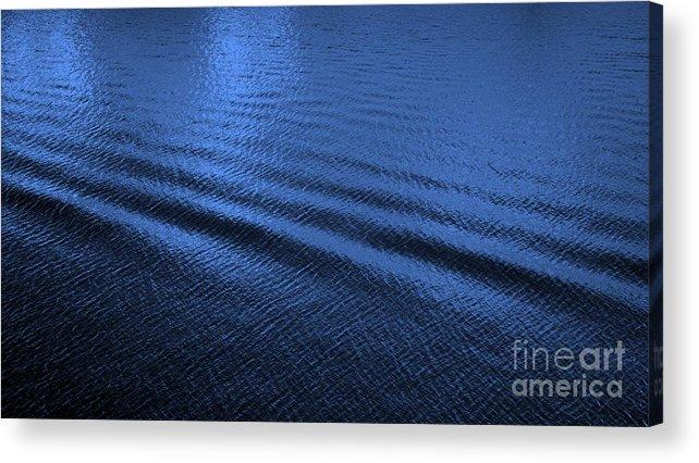 Blue Acrylic Print featuring the photograph Deep Blue Sea by Carol Groenen