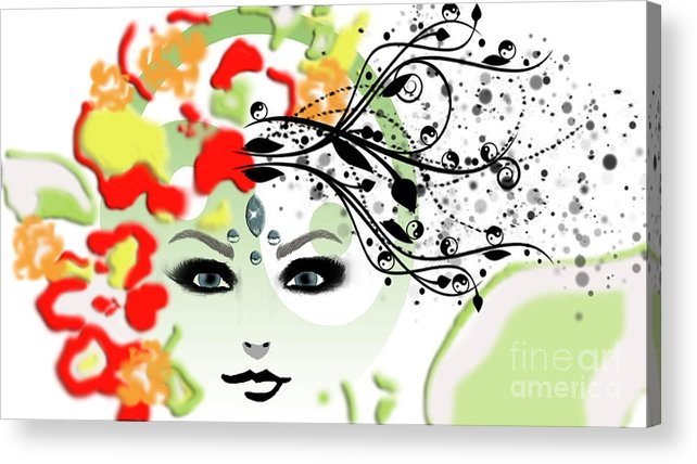 Deva Acrylic Print featuring the digital art Deva by Gia Simone