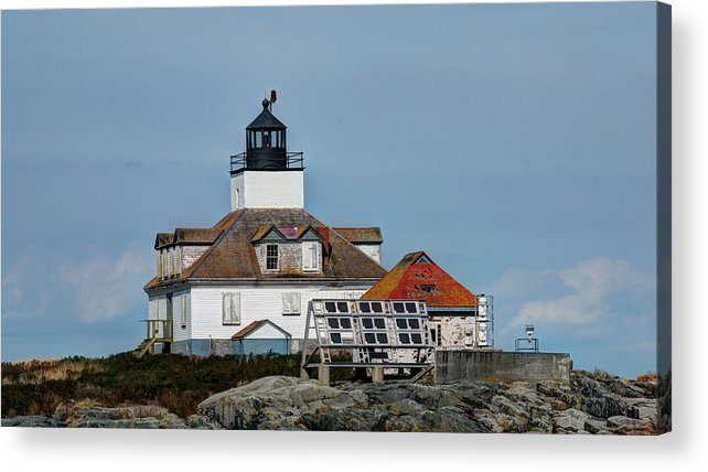 Maine Acrylic Print featuring the photograph Egg Rock Light by Bruce Wilbur