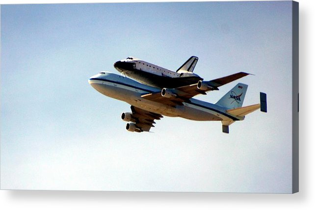Space Shuttle Acrylic Print featuring the photograph Final Flight by Michael Courtney