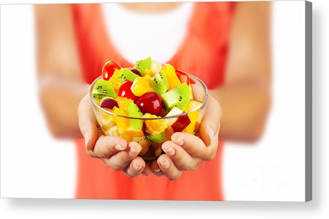 Background Acrylic Print featuring the photograph Healthy Fruit Salad by Anna Om