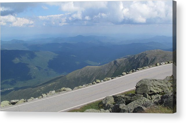 Mount Washington Acrylic Print featuring the photograph Mount Washington New Hampshire Auto Road Views by Lisa Fougere