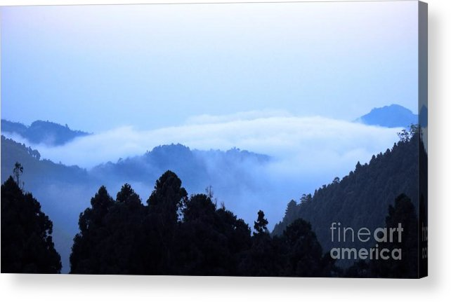 Mist Acrylic Print featuring the photograph Mountain Morning by Yali Shi