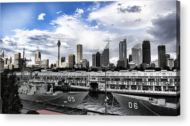 Frigates Acrylic Print featuring the photograph Naval Security by Douglas Barnard