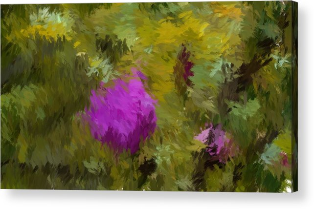 Acrylic Print featuring the digital art Rose Pond by Win Charles