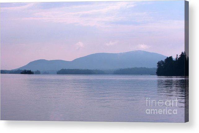 Squam Lake 2010 Acrylic Print featuring the photograph Squam Lake Haze by Michael Mooney