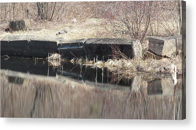 Nature Acrylic Print featuring the photograph Stone Reflections by Loretta Pokorny