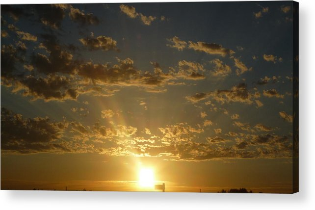 Landscape Acrylic Print featuring the photograph Sunshine Moment by Janet Matwiejow