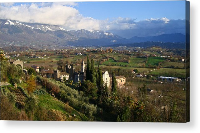 Landscape Acrylic Print featuring the photograph Valle Di Comino by Ernesto Grossmann