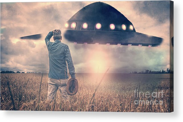 Alien Acrylic Print featuring the photograph Alien Encounter by Edward Fielding