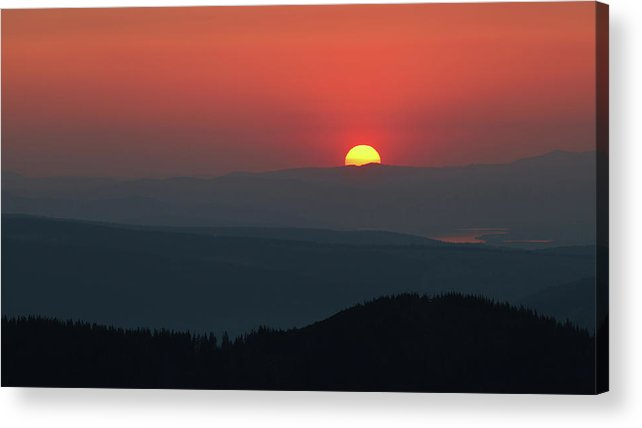 Hill Acrylic Print featuring the photograph Breathtaking Sunset At Tatra Mountains, Carpathian Region, Poland by Lukasz Szczepanski