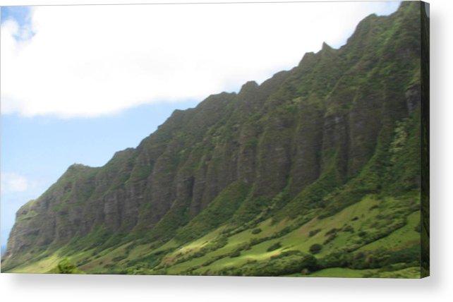 Hawaii Acrylic Print featuring the photograph Jurassic Park by Kathryn Carlin