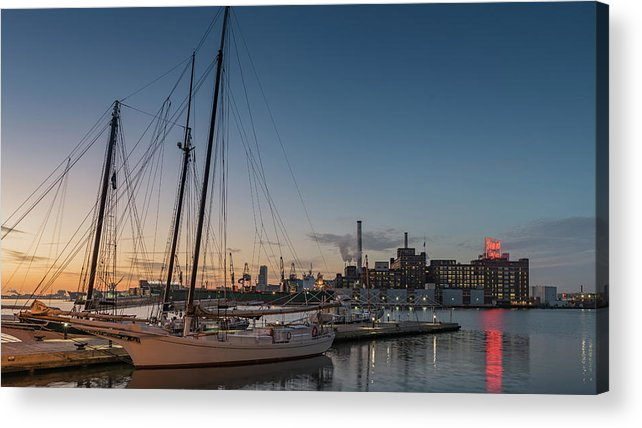 2017 Acrylic Print featuring the photograph Magic Sky In Baltimore by Jim Archer