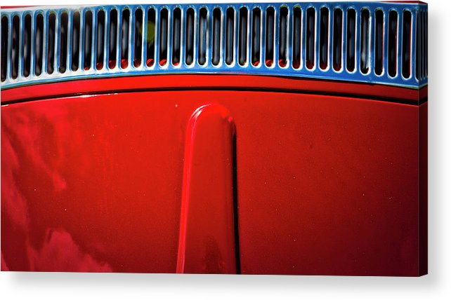 Californai Acrylic Print featuring the photograph 2674- Red Volkswagen by David Lange