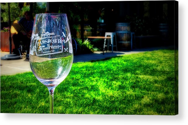 2859 Dry Creek Rd Acrylic Print featuring the photograph 2719- Mauritson Wines by David Lange