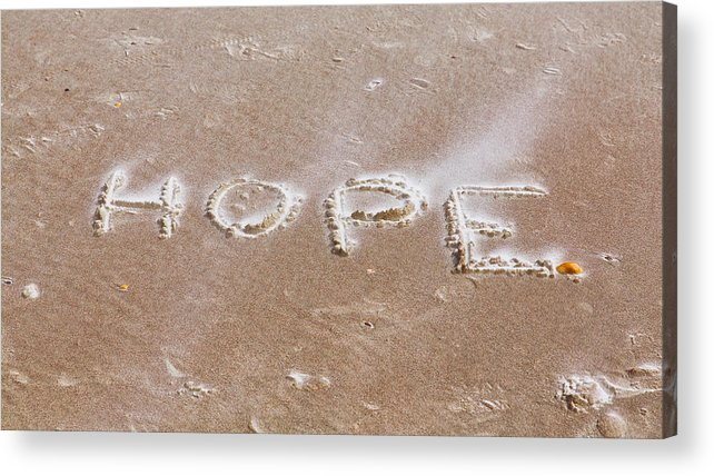 Apparel Acrylic Print featuring the photograph A Message On The Beach by John M Bailey