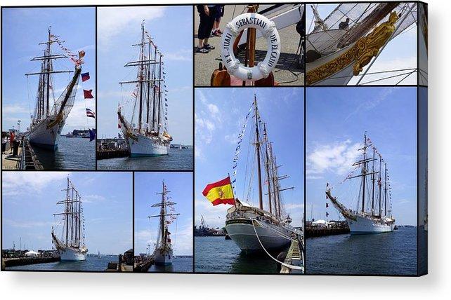 Tall Ship Acrylic Print featuring the photograph B.e. Juan Sebastian De Elcano by Mike Poland
