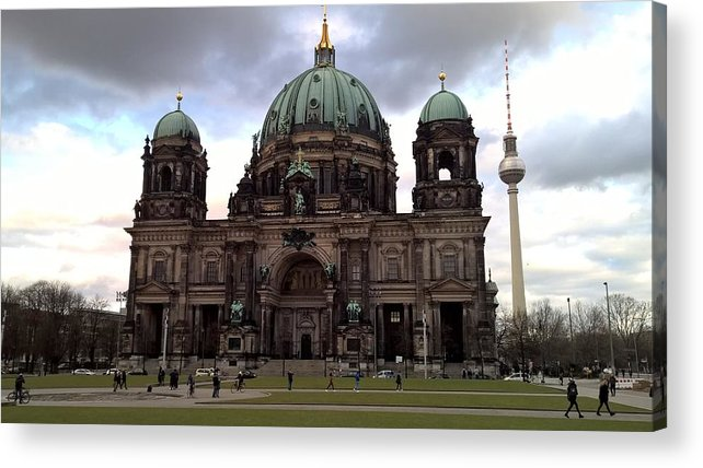 Berlin Acrylic Print featuring the photograph Berlin Dom by Daniel Peccia