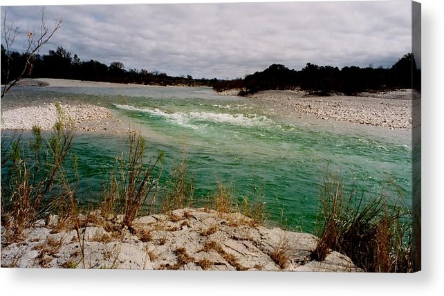 River Acrylic Print featuring the photograph Blue River One by Ana Villaronga