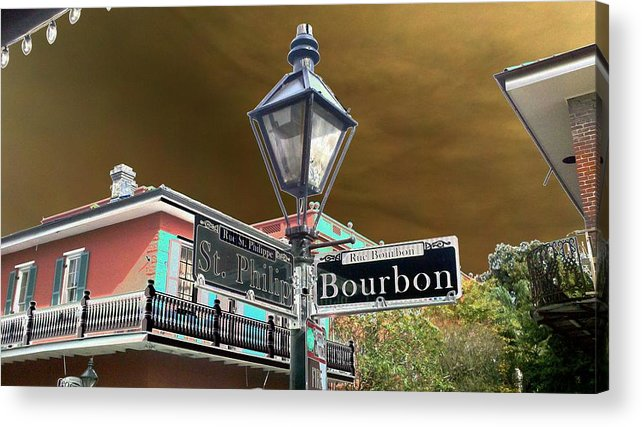 New Orleans Acrylic Print featuring the photograph Bourbon And St. Phillip Streets by Kevin Flynn