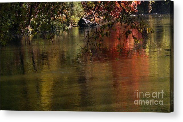 River Acrylic Print featuring the photograph Calm Reflection by Linda Shafer