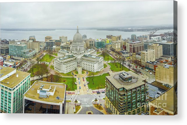 Madison Acrylic Print featuring the photograph Capital Panoramic by Randy Kostichka