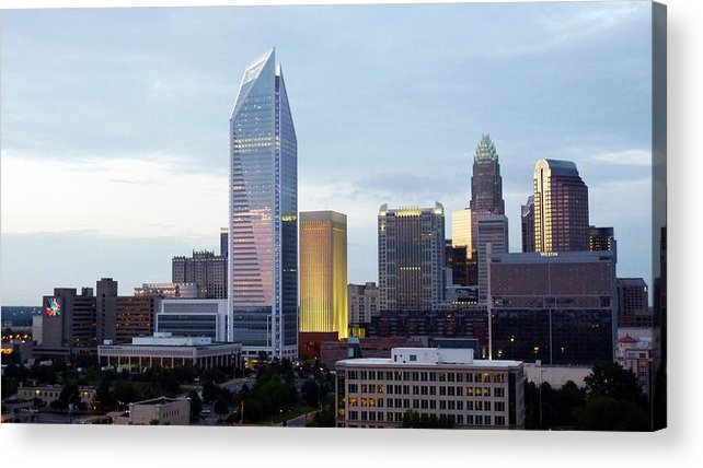 Charlotte Acrylic Print featuring the photograph Charlotte Skyline by Tim Mattox