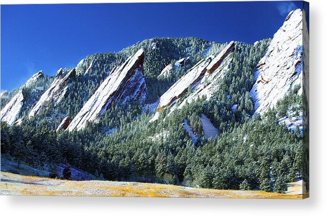 Colorado Acrylic Print featuring the photograph All Five Colorado Flatirons by Marilyn Hunt