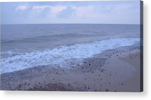 Dawn Acrylic Print featuring the photograph Corton Beach Dawn Ocean Waves 3 by Richard Griffin