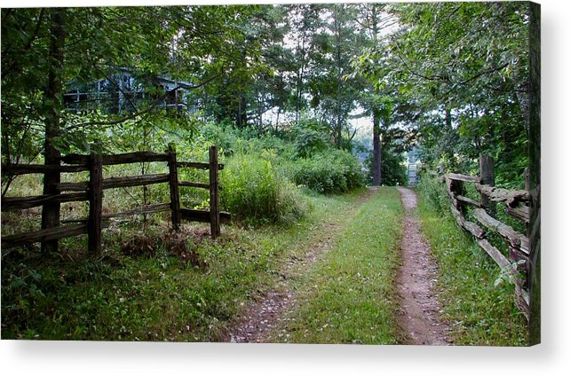 Country Acrylic Print featuring the photograph Cottage Path by Juli Kreutner