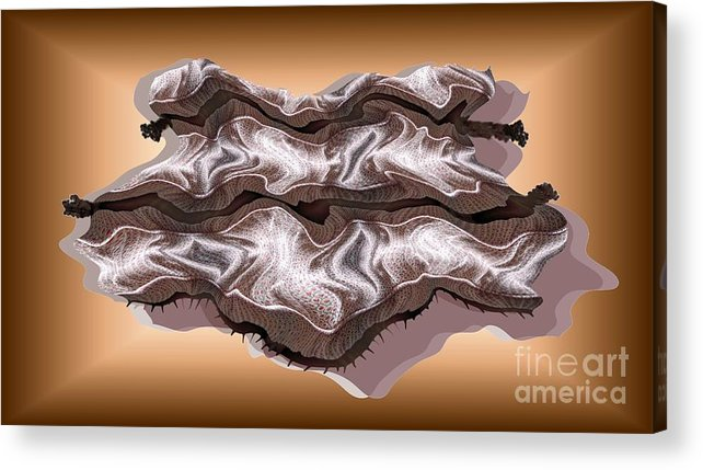 Abstract Acrylic Print featuring the digital art Doubt Its Redoubt by Ron Bissett