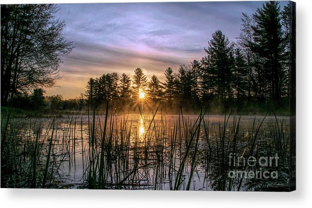 Sun Acrylic Print featuring the photograph Exquisite Sunrise On The Androscoggin River 2 by Jan Mulherin