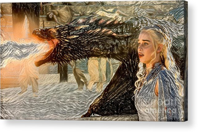 Game Of Thrones Original Oil Painting Saving Mom Painting Poster Canvas Great Gi Acrylic Print