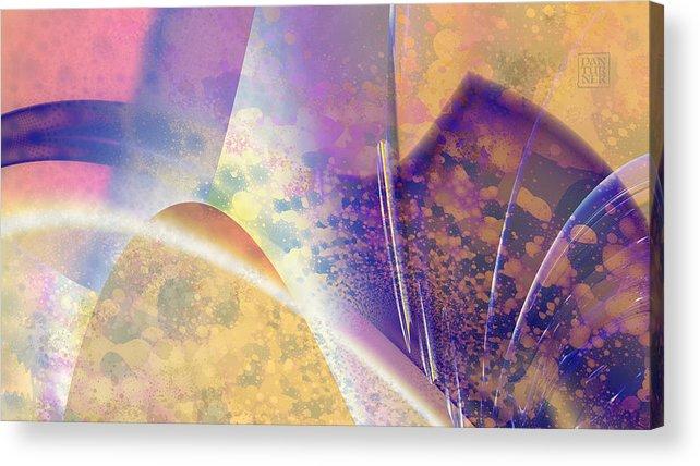 Geomorphic Acrylic Print featuring the digital art Geomorphic by Dan Turner